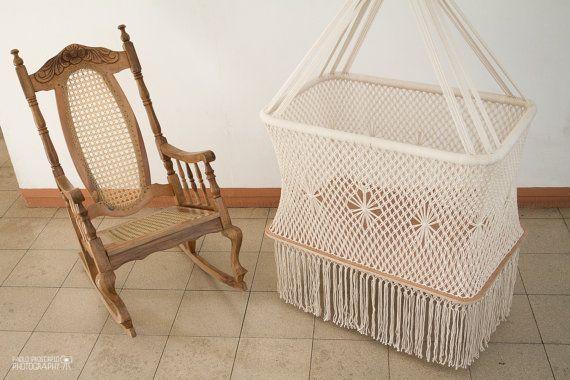 Gorgeous Hanging Crib in Macrame by HangAHammock on Etsy, $249.00