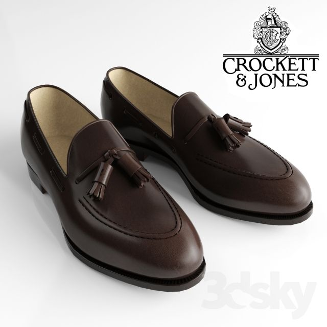 shoes, loafer, crockett and jones | 3d model