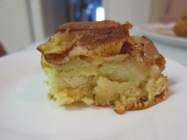 On a recent trip, we tried this awesome recipe for  Lithuanian Apple Cake that our host family made...