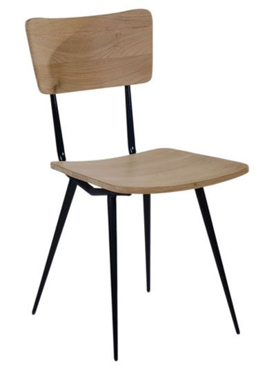 Mols Dining Chair. Made of powdercoated iron and solid teak seat and backrest.
