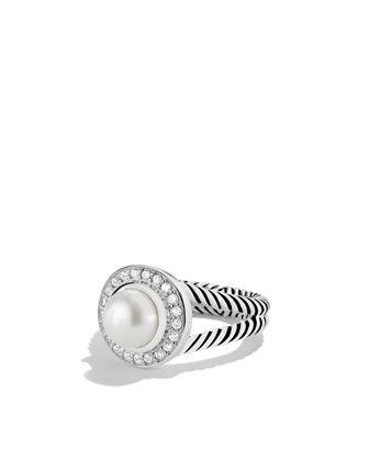 David Yurman Petite Cerise Ring with Pearl and Diamonds - Neiman Marcus