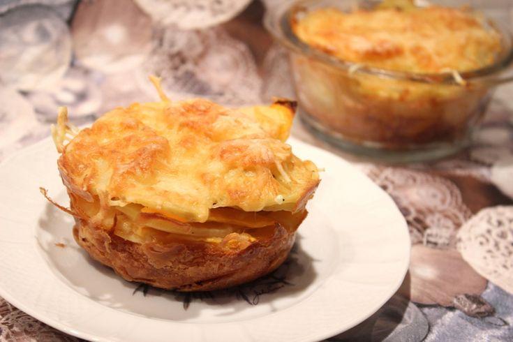 Gâteaux-gratins à la pomme de terre et au potiron (idée d'accompagnement pour Noël)