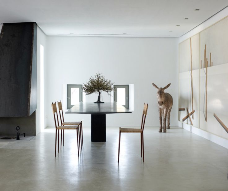#dining with #donkey #chair #furniture #sculpture #art of #living #polished #concrete #contemporary bare & simple #interior #misch_MISCHltd