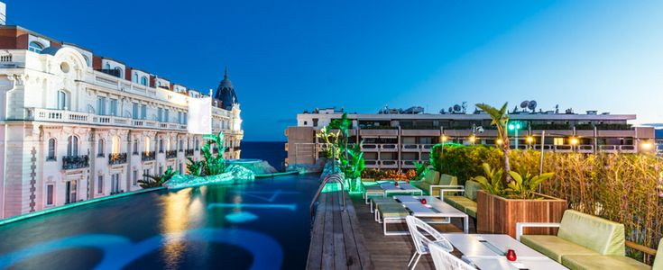 Hotel 3.14 Rooftop #Hotel3.14 #Cannes #Rooftop