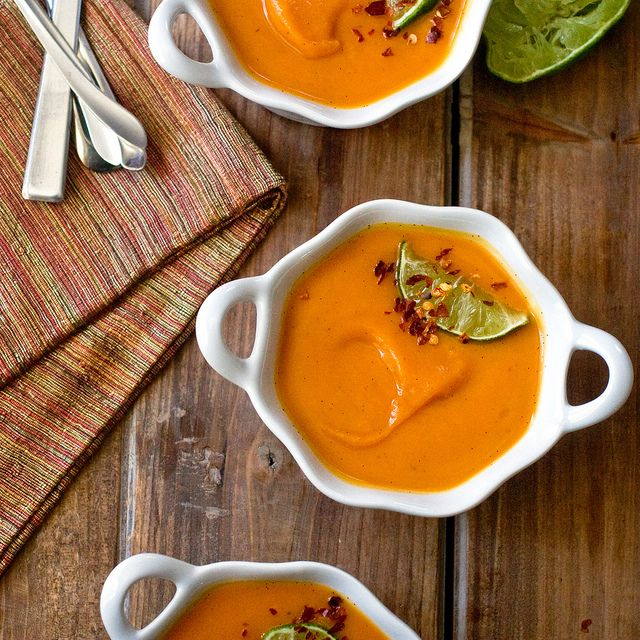 A little sweet, a little spicy, but DEFINITELY tasty: PPK's Sweet Potato Soup With Ginger & Vanilla.