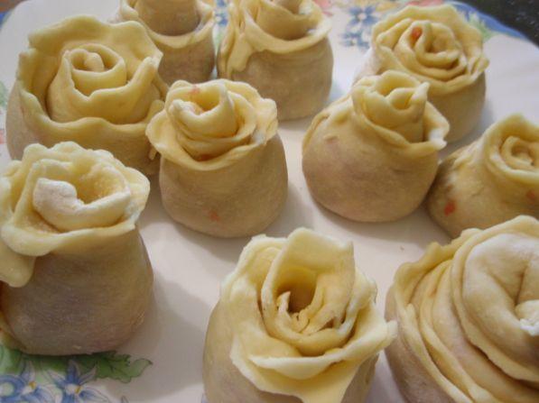 Ленивые пельмени в виде роз - праздник каждый день! - Рецепты с фото. Готовим дома