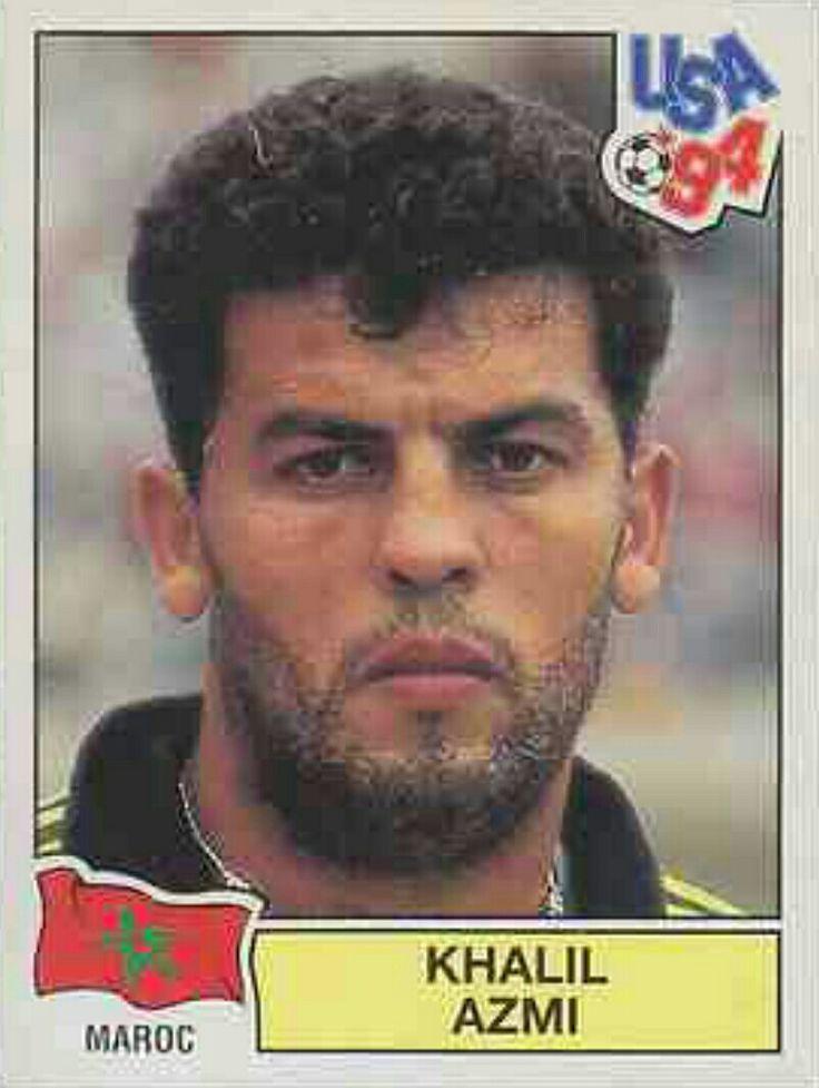 Khalil Azmi of Morocco. 1994 World Cup Finals card.