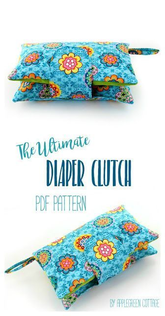 ​This cute and super convenient DIAPER CLUTCH sewing pattern is the perfect handmade gift every new mom would love to have. Also, makes an excellent baby shower present. Totally adjustable: one pattern, many different options! And NOW 33% off, just for th