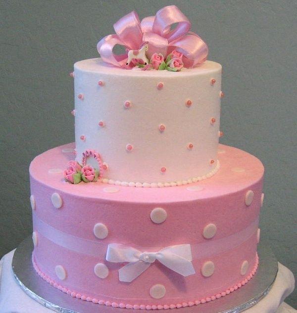 Baby girl shower cakes