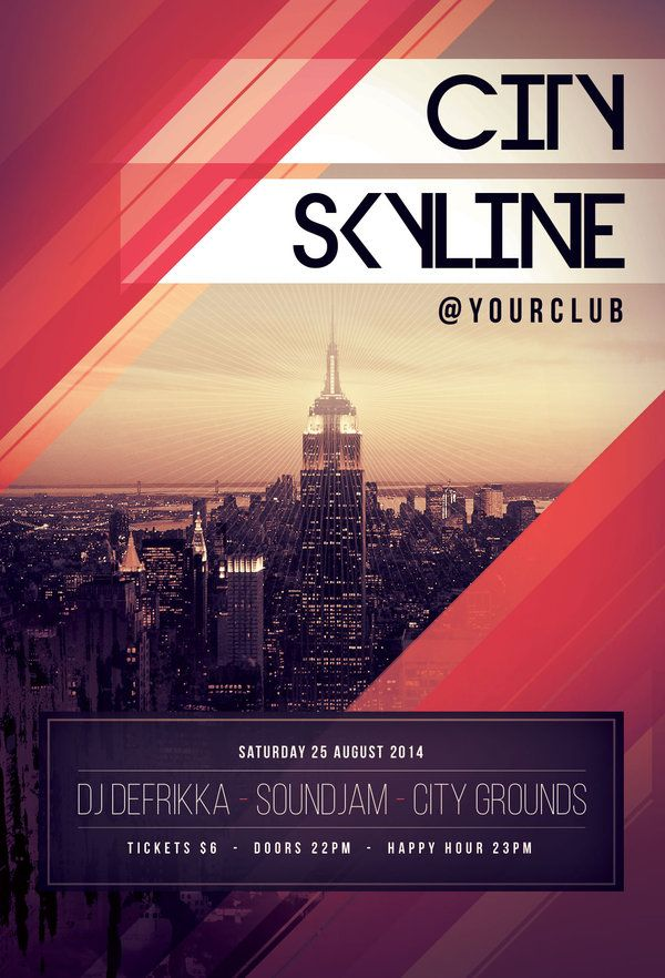 City Skyline Flyer by styleWish (PSD template on Graphicriver)