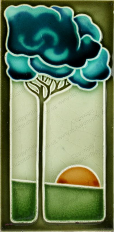 Art Nouveau & Art Deco Tiles. German, NSTG. This item is sold. To visit my website to see what's in stock click here: http://www.richardhoppe.co.uk or for help or information email us here: info@richardhoppe.co.uk