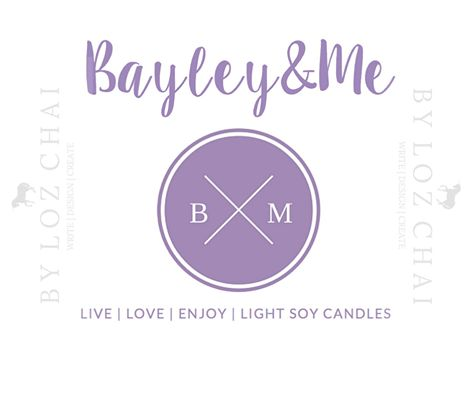 Soy candle business logo I designed for my client - according to brief for Bayley&Me