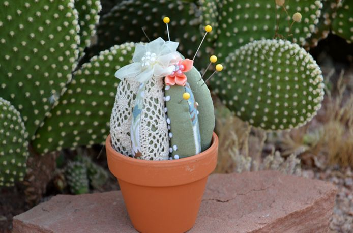 Geninne, this reminds me of you: Cactus Pincushion