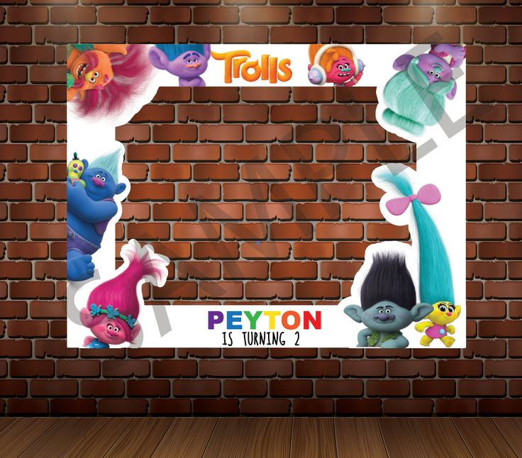 TROLLS PHOTO BOOTH Frame, trolls movie, Photo Booth Prop, Printable by TRUSTITI on Etsy