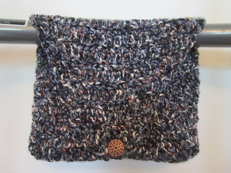 Crocheted Walker Bag Denim Blues Small Tote by ...