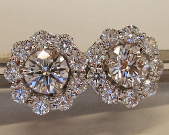 classic basket white color prong round diamond screw back view set earrings cut studs stud