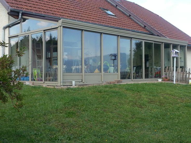 Véranda grande extension de séjour ossature aluminium | Veranda aluminium, Veranda, Veranda alu