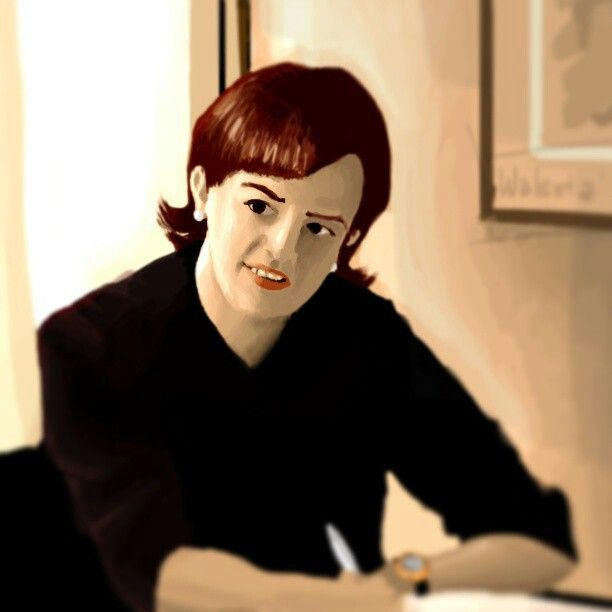 """Peggy Olsen"" digital painting from scene shot reference from ""Mad Men"" TV series. Photoshop + Intuos 4"