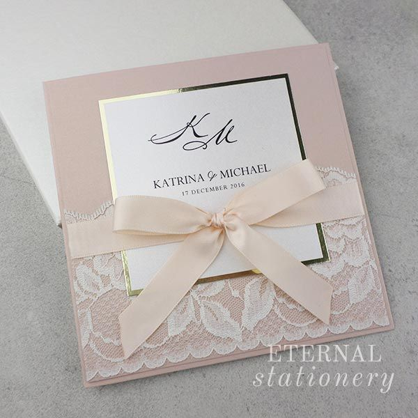 Modern Blush And Gold Wedding Invitation Created By Eternal Station Pinterest Wedding Invitations Handmade Wedding Invitations Wedding Invitations Diy Handmade