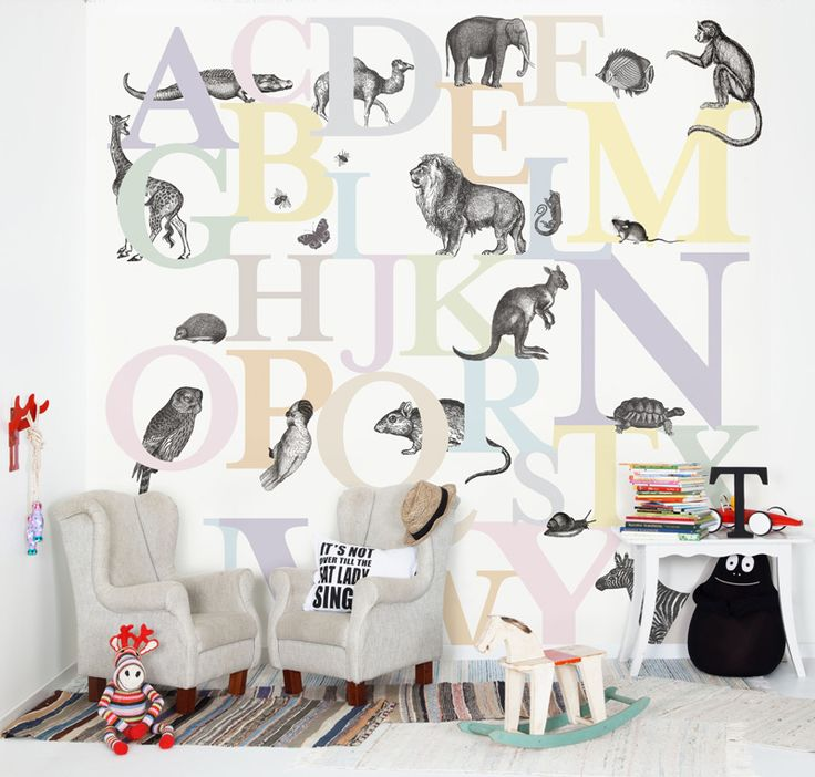 Wallpaper for kids learning ABC / © PHOTO: Borge Tapeter