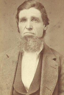 CDV PHOTO ROUGH WOODSY LOOKING VICTORIAN GENTLEMAN NICE THICK CHIN BEARD