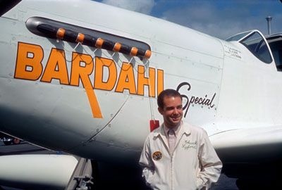 Sep.  1964  Paine Field, Wa.  Chuck Lyford, pilot of the Bardahl Special  -  Copyright Protected