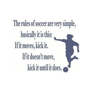 Funny The rules of soccer - wall decal