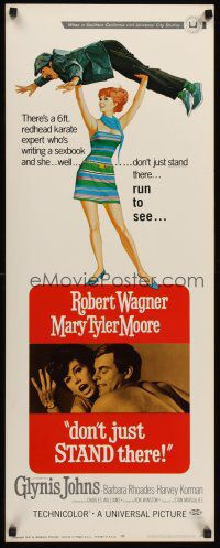 DON'T JUST STAND THERE - Robert Wagner - Mary Tyler Moore - Barbara  Rhodes - Harvey Korman - Universal - Movie Poster.
