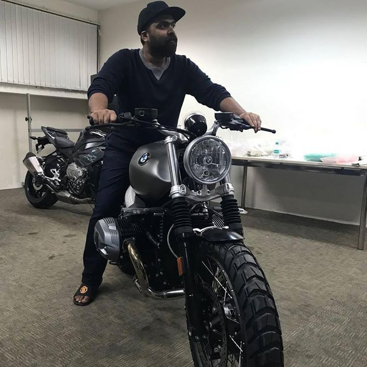 Actor #Simbu checked out these BMW beast machines! Which ones do you like the most
