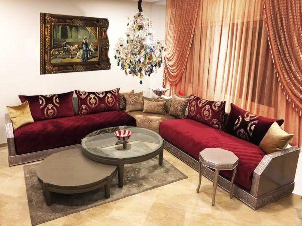 Salon marocain – séjour marocain moderne – séjour – Maawak ...