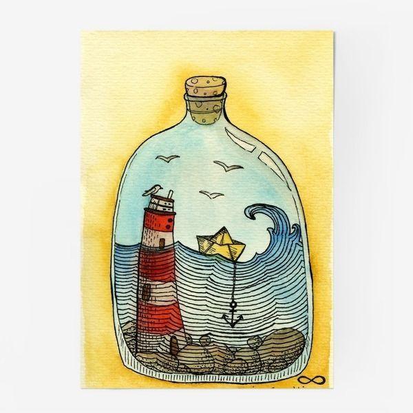 Картинки города в бутылке