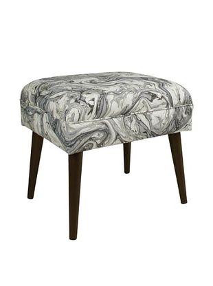 52% OFF Skyline Furniture Ottoman with Cone Legs, Marbleized Zinc