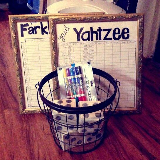 Diy Yard Yahtzee Dice Game Gift