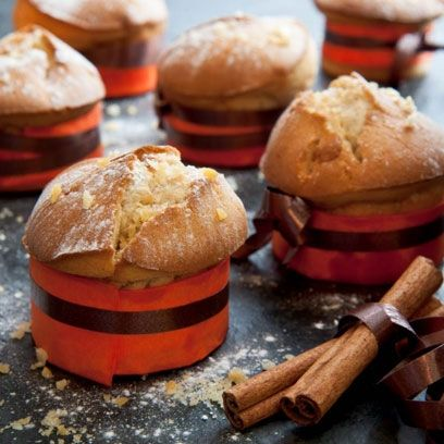 Perfectly fluffy muffins, made with cinnamon, ginger and nutmeg. Ideal for Bonfire night. | Autumn recipes | Visit http://www.redonline.co.uk for this recipe and more.