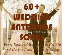 The 25 Best Reception Entrance Songs Ideas On Pinterest