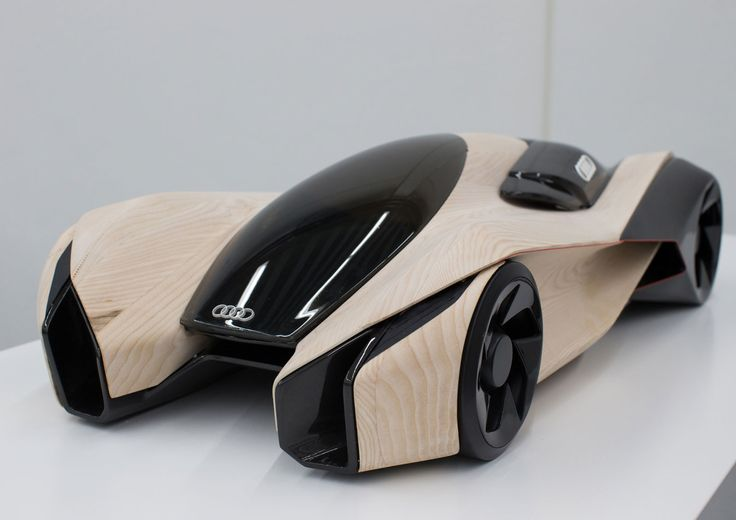 Futuristic Vehicle, Future Car, Audi Wood Aerodynamics Concept by Pavol Kirnag - Scale model