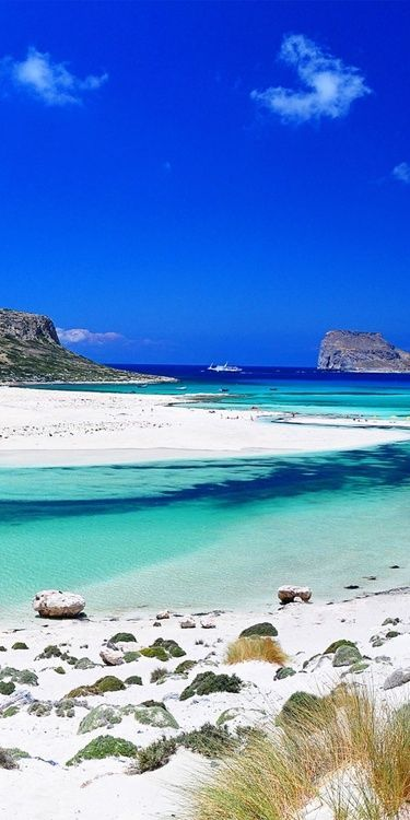 Balos Bay - Gramvousa, Crete,Greece Greece consists of a mountainous, peninsular mainland jutting out into the sea at the southern end of t...