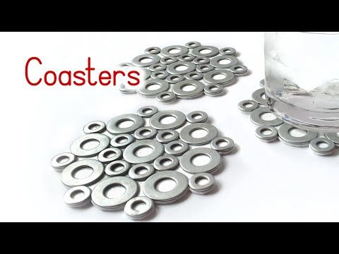 DIY crafts: COASTERS with washers VERY EASY - Innova Crafts - YouTube