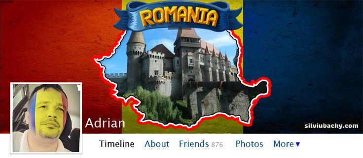 Romanian Map Facebook Cover | silviubacky