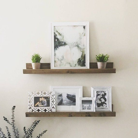 Wood Picture Ledge Gallery Wall Shelf Wooden Floating Shelf Rustic Ledge Shelf Wooden Nursery Book Shelf Gallery Wall Shelves Wall Shelves Picture Ledge Shelf