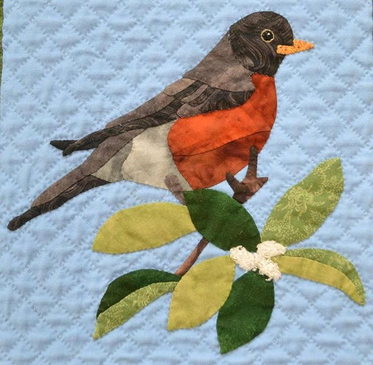 Robin Craftsy Птички Quilt Patterns Applique Quilt