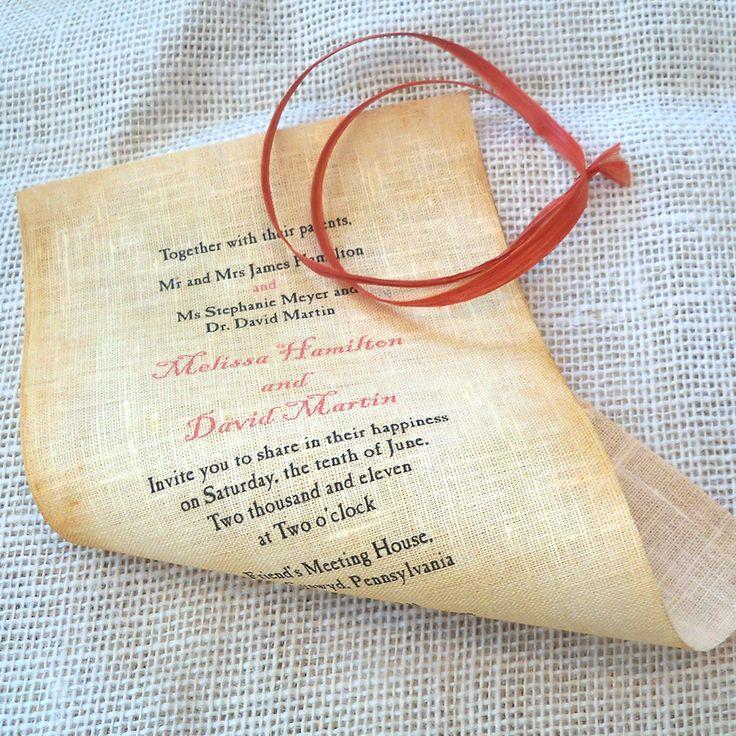 Nautical Wedding Invitation Scroll Destination By ArtfulBeginnings