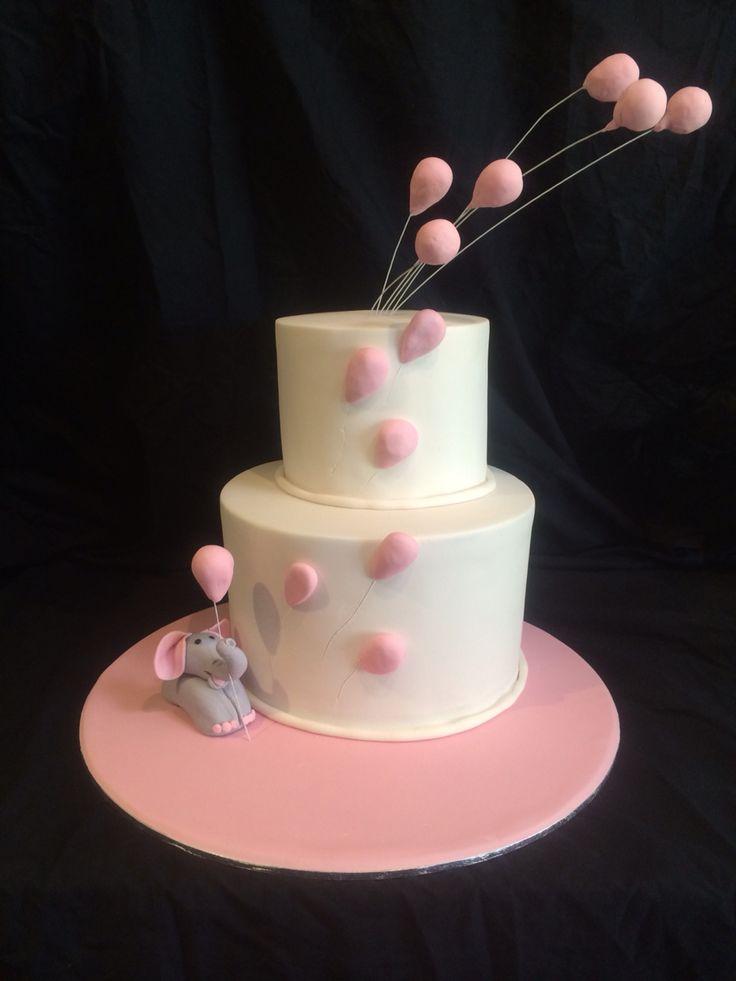 Girls baby shower cake