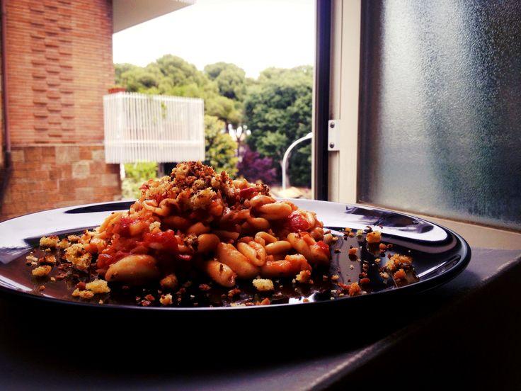 Cavatelli con surimi e granella di pane tostra (di Andrea Di Renzo)