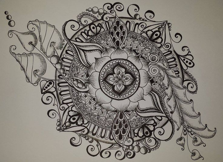 mandala, black & white https://www.facebook.com/creative.baha/