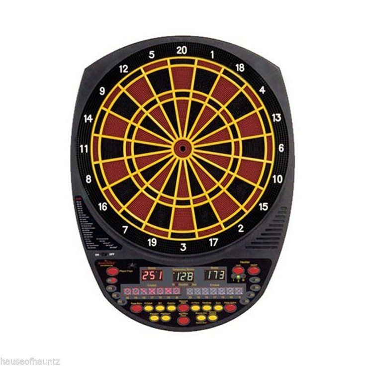 Electronic Dart Board Arachnid® Darts Game Room Dartboard Indoor Heckler Cricket #Arachnid #ElectronicTalkingDartboard