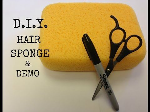 Doing Natural Hair With A Sponge