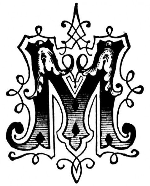 Pics of Letters M, Graffiti Letter M: Ornamental Letter