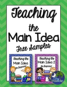 Main Idea, beginners, beginning readers, picture level, ELA, mini lesson, primary main idea, answer keyTry before you buy!  This main idea free sample unit is comprised of my best selling main idea for beginners lesson and my main idea for beginning readers lesson.