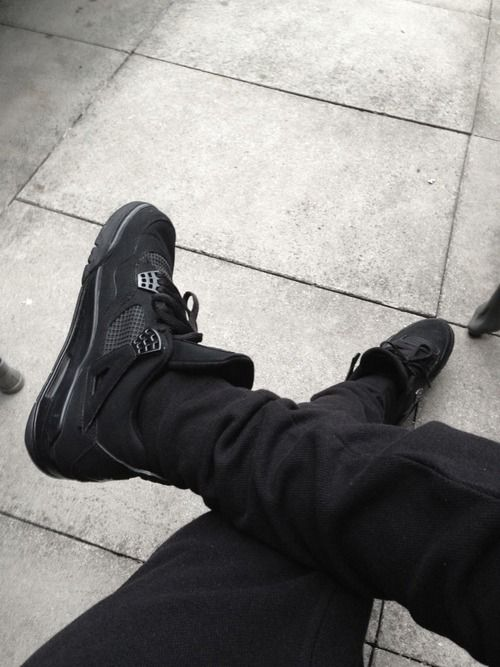 All black everything. Air Jordan 4's #sneakers
